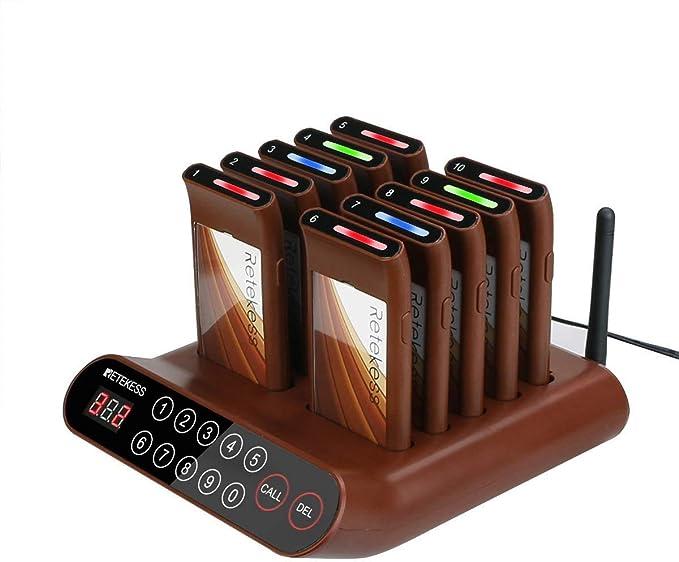 Retekess T116a Pager System 10 Pagers Mini Kundenrufsystem Sound Flash Tipps 999 Kanäle 300 Meter Für Restaurant Hotel Street Food Baumarkt
