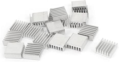 uxcell Silver Tone Sticky Aluminum Heatsink for RPI 1 Set with 4 Kinds Total 4pcs