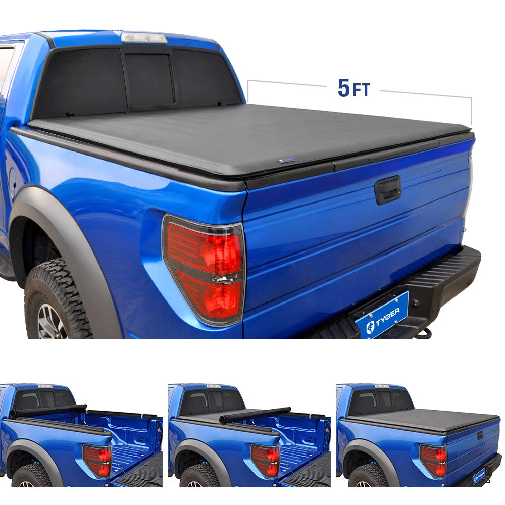 Tyger Auto TG-BC1C9013 Roll Up Truck Bed Tonneau Cover Works 2015-2018 Chevy Colorado/GMC Canyon | Fleetside 6' Bed