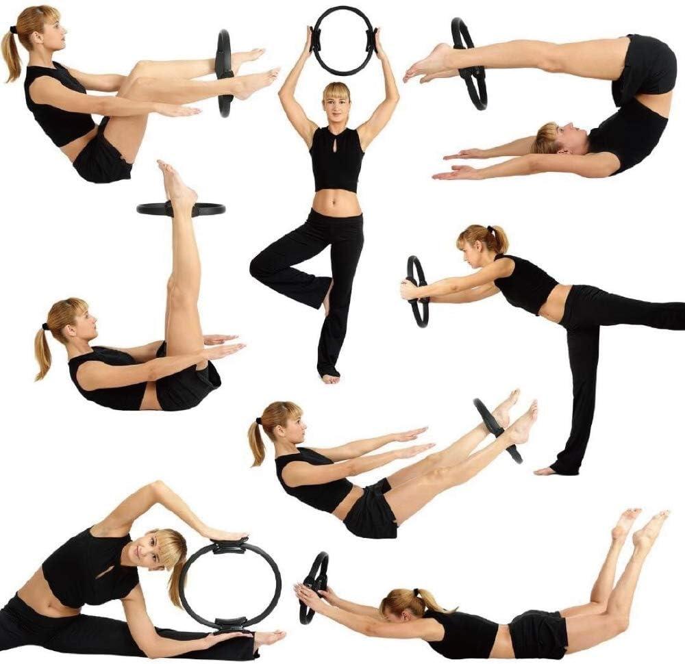 p/érdida de Peso Cuerpo tonificaci/ón Magic Circle Toning Muslos Zacro 5 en 1 Pilates Anillo de Resistencia Bandas de Ejercicio 3 Piezas Bandas de Resistencia Ejercicio Abdominales y piernas