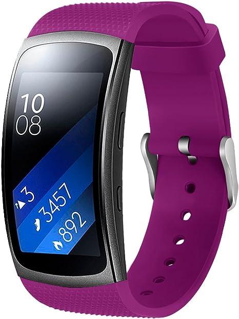 Sports Silicone Bracelet montre bande pour Samsung Gear Fit2 SM-R360 /& Fit 2 Pro