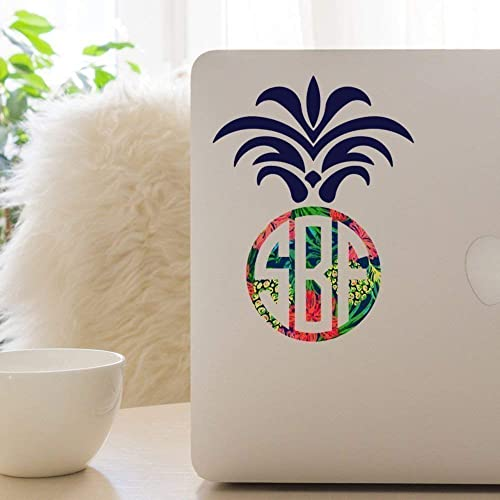 Feather Initial Monogram Cup Laptop 12 COLORS Car Window Vinyl Decal Sticker