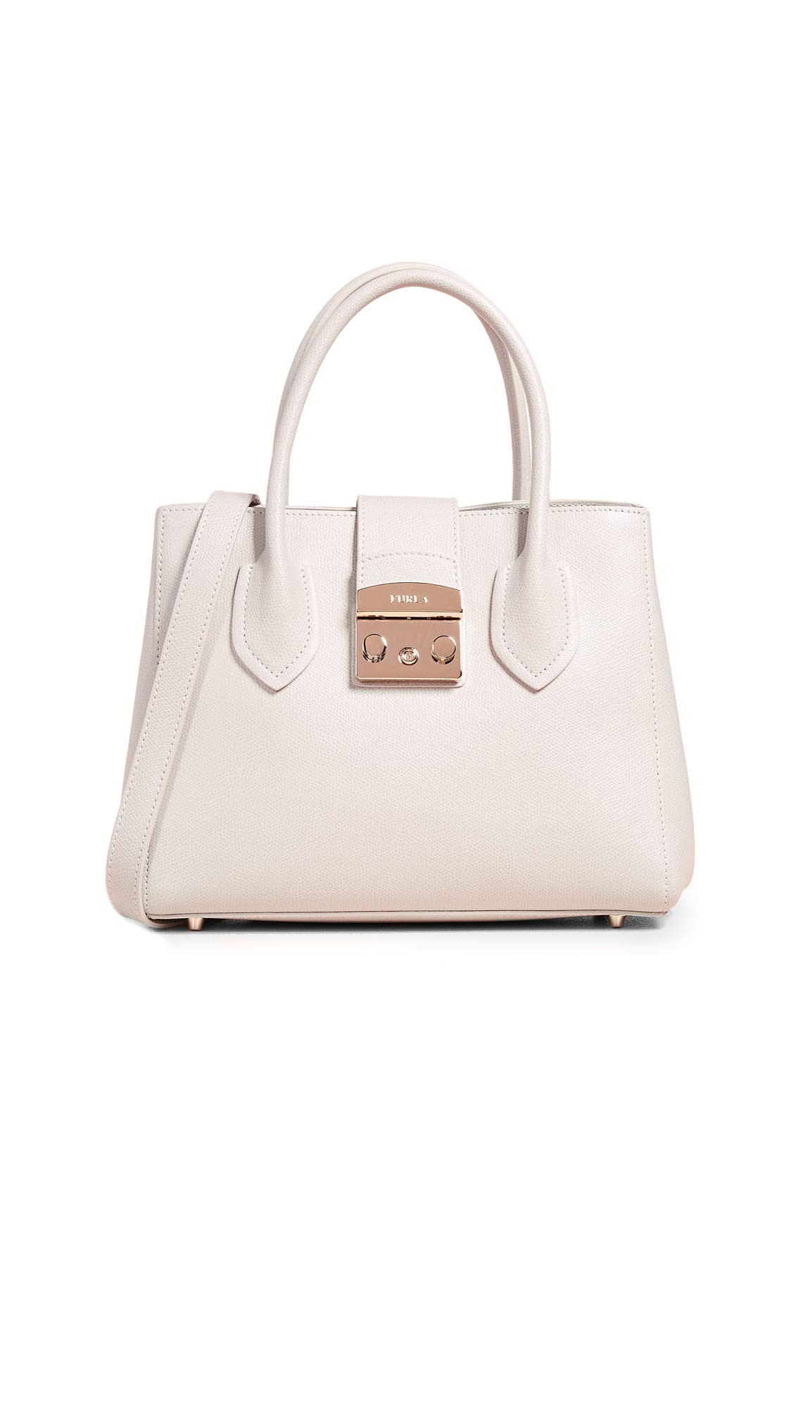 Furla Women's Metropolis Small Tote, Perla, Off White, One Size
