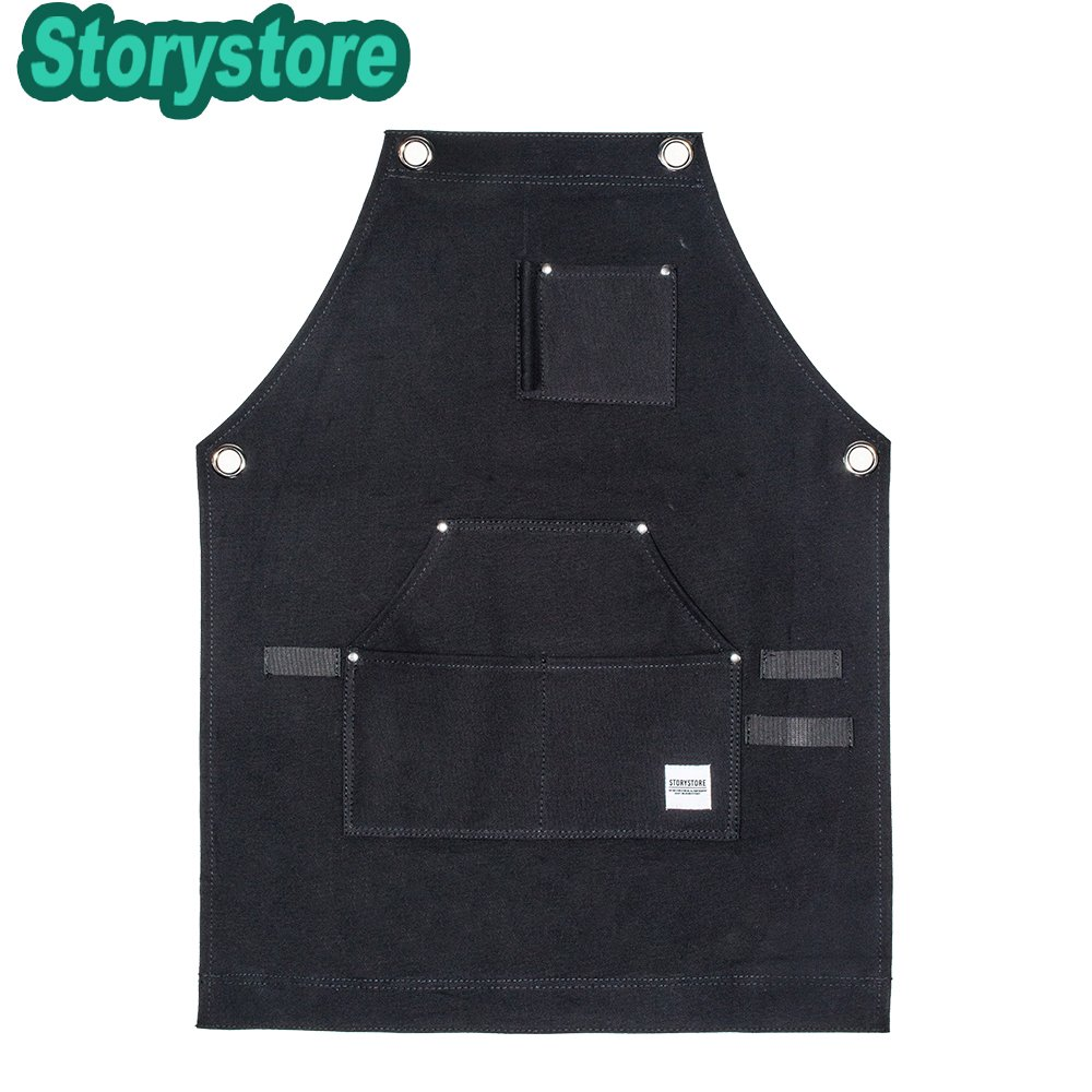 Work Apron For Men & Women - Heavy Duty waterproof Canvas - Multiple Tools Pockets - Adjustable Unisex Sizing - For Woodworking, Painting, Crafting, Cooking & Bartenders (black) by Storystore (Image #7)