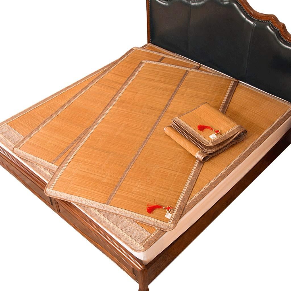 DUAN GUO FENG DGF Bambusmatte Klapp Einzelbett Schülerschlafzimmer Doppelseitige Einzel Bambusmatte
