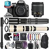Holiday Saving Bundle for D3300 DSLR Camera + 650-1300mm Telephoto Lens + AF-P 18-55mm + 500mm Telephoto Lens + 6PC Graduated Color Filter Set + 2yr Extended Warranty + 32GB - International Version