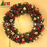 Christmas Garland for Stairs fireplaces Christmas Garland Decoration Xmas Festive Wreath Garland with Christmas wreath restaurant wreath wall hanging rattan wreath,40cm