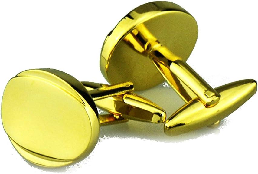 Aooaz Gemelos para Hombre Oval Gemelos para Camisa Oro: Amazon.es: Joyería