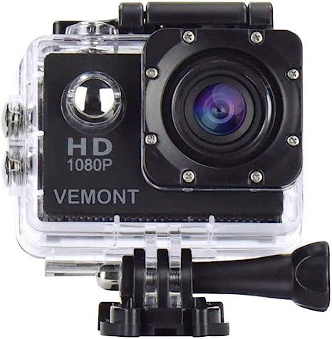Amazon.com: Vemont Cámara de acción 1080P 12MP Cámara ...