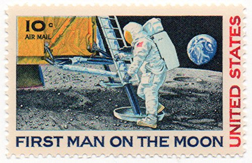 USA Airmail Postage Stamp Single 1969 Moon Landing Issue 10 Cent Scott #C76