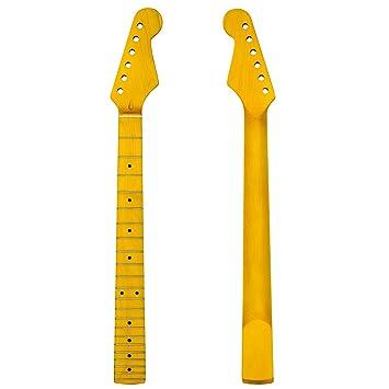 22 Bünde E-Gitarre Hals For 6 Saiten Gitarre Teile Ersatz Ahorn Matt
