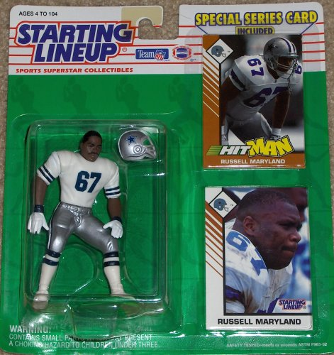 Galleon 1993 Russell Maryland Dallas Cowboys Kenner Slu Starting Lineup Nfl Football Figure