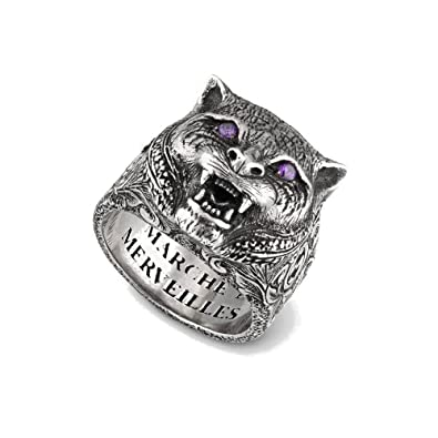 02fd20125 Image Unavailable. Image not available for. Color: Gucci Garden Feline Head  Ring ...