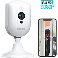 Wireless Security Camera, Conico 1080P Wireless Camera with Sound Motion Detection IR Night Vision, Home Camera with 2- Way Audio 8X Zoom, WiFi Camera Cloud Service Compatible with Alexa