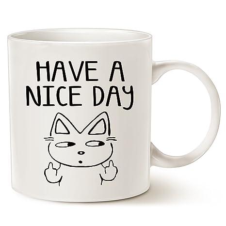 Taza de café con diseño de gato para amantes de los gatos, con el texto