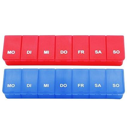 COM-FOUR® - Pastillero para guardar medicamentos para 7días en