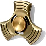 SUNKONG Spinner Fidget Toy Triangle Hand Spinner Fidget ADHD Focus Toy High Speed 2-6 Minutes Per Spins Ultra Durable Finger Spinner(Antiqued Bronze)