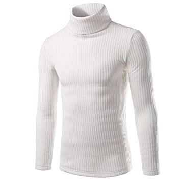Amazon.com: Mens Shirt, Laimeng Polyester Fashion Casual High-collar Mens Sweaters Tops Blouse (L, White): Kitchen & Dining