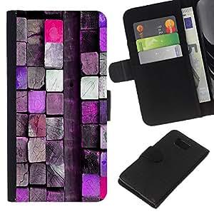 A-type (Rosa del bloque de madera Close Up) Colorida Impresión Funda Cuero Monedero Caja Bolsa Cubierta Caja Piel Card Slots Para Samsung ALPHA G850