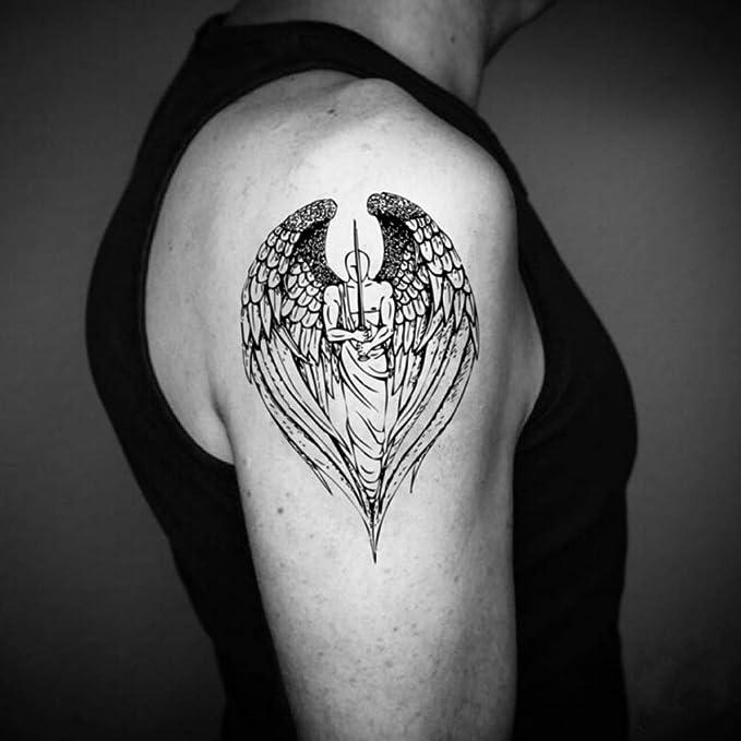 Tatuaje Temporal de Ángel guardian (2 Piezas) - www.ohmytat.com ...