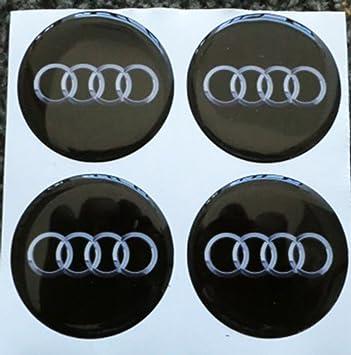 GTBTunning - 4 adhesivos Audi de 55 mm - Color negro - Adhesivos Tunning efecto 3D, 3M, resinado - Ideales para tapacubos, llantas de aleación: Amazon.es: ...