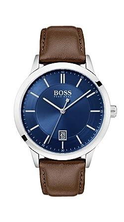 Hugo Boss Watch Reloj Analógico para Hombre de Cuarzo con Correa en Cuero 1513612: Amazon.es: Relojes