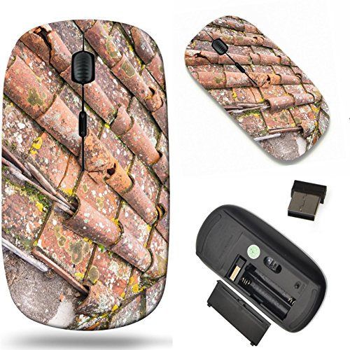 Tuscan Roof Tile (MSD Wireless Mouse Travel 2.4G Wireless Mice with USB Receiver, Noiseless and Silent Click with 1000 DPI for notebook, pc, laptop, computer, mac book design 24755031 Tuscan clay roof tiles)