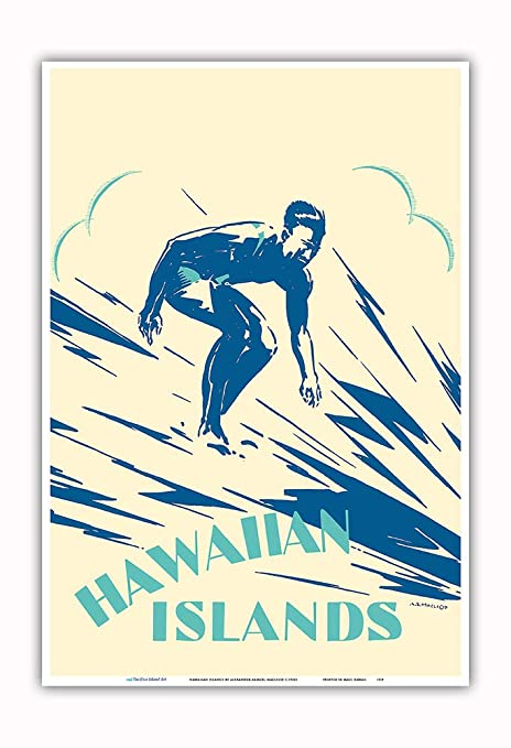 Pacifica Island Art Hawaiian Islands-Surf-Cartel del Viaje ...