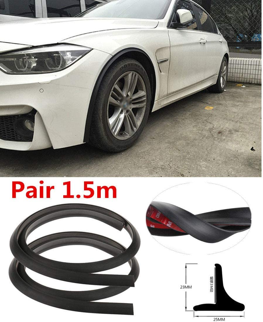 Automotive Adhesive Tape Bonds to Flare Length with Alignment Tool for CAR and Truck Wheel Wells MACHSWON Edge Trim Rubber Gasket WELTING T-Style Double Edge