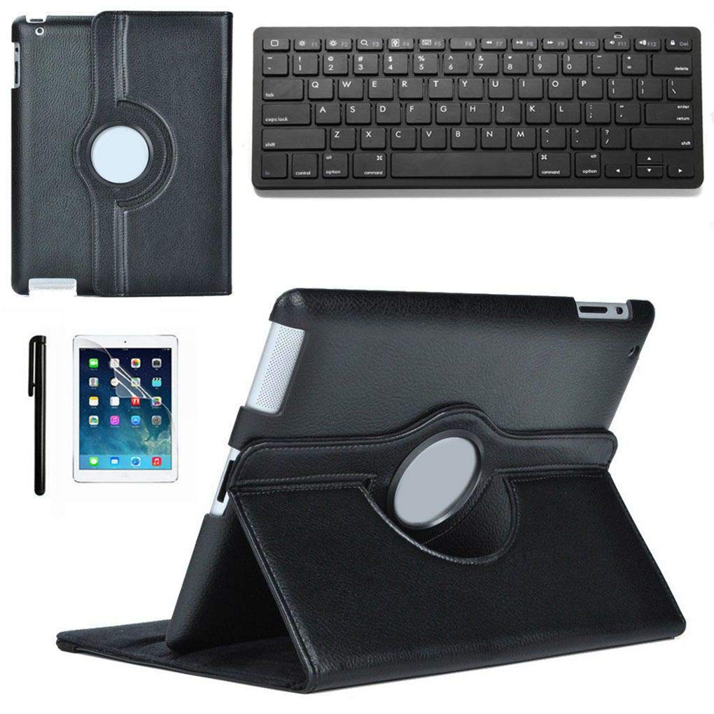 PRENKIN NEW Stand Leather Case Cover With Bluetooth Keyboard For iPad 2 3 4th Gen