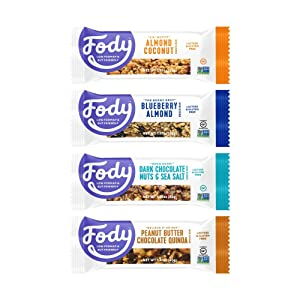 Fody Foods Vegan Protein Nut Bars | Low FODMAP Certified | Gut Friendly IBS Friendly Snacks | Gluten Free Lactose Free Non GMO | All Flavors, 12 Count