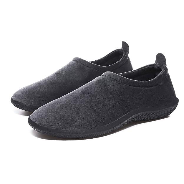 Eagsouni pantofole da donna uomo inverno caldo peluche morbido pelliccia sintetica scarpe per la casa con pantofole stile mocassino