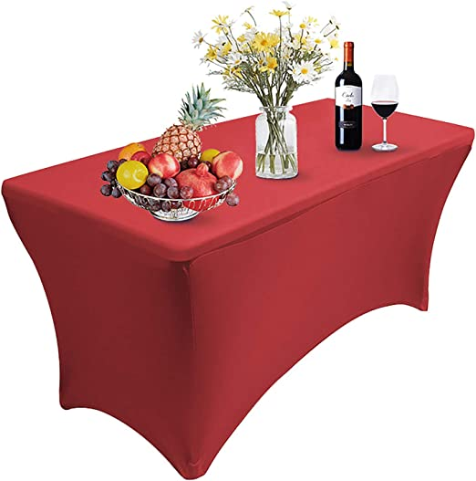Spandex Fitted Stretch Tablecloth Rectangular Table Cover Wedding Trade Show