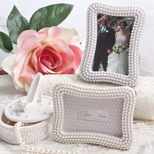 Pretty Pearl Photo Frames / Placecards , -