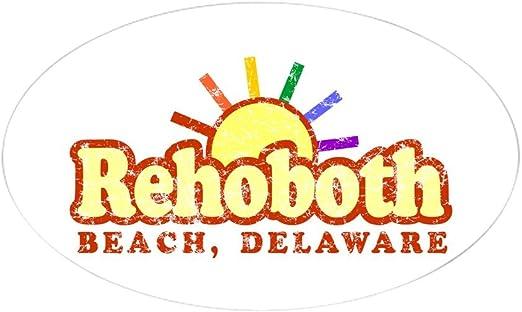 Rehoboth Beach Deleware Oval Vinyl Sticker Decal 5x3