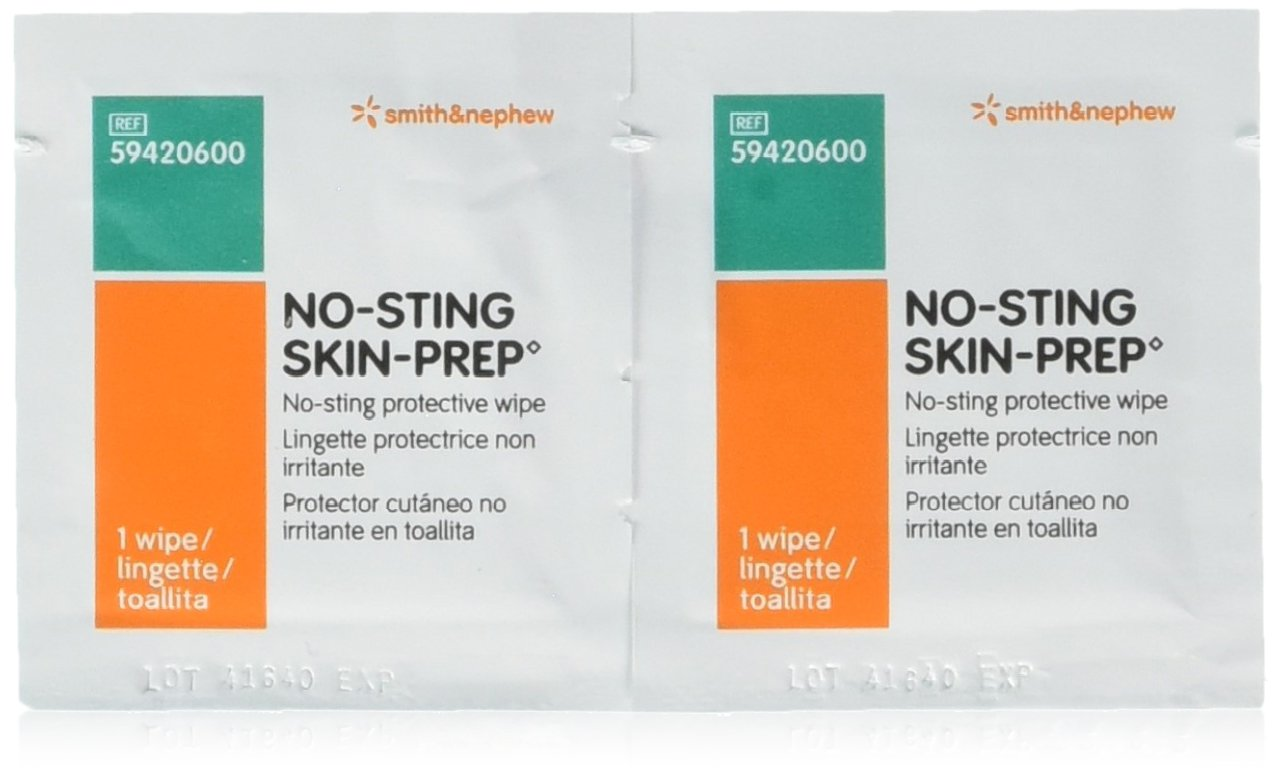 No-Sting Skin Prep Wipes 59420600 - Box of 50