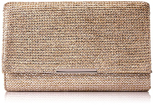 Jessica McClintock Nora Painted Straw Envelope Clutch, Blush (Painted Blush)