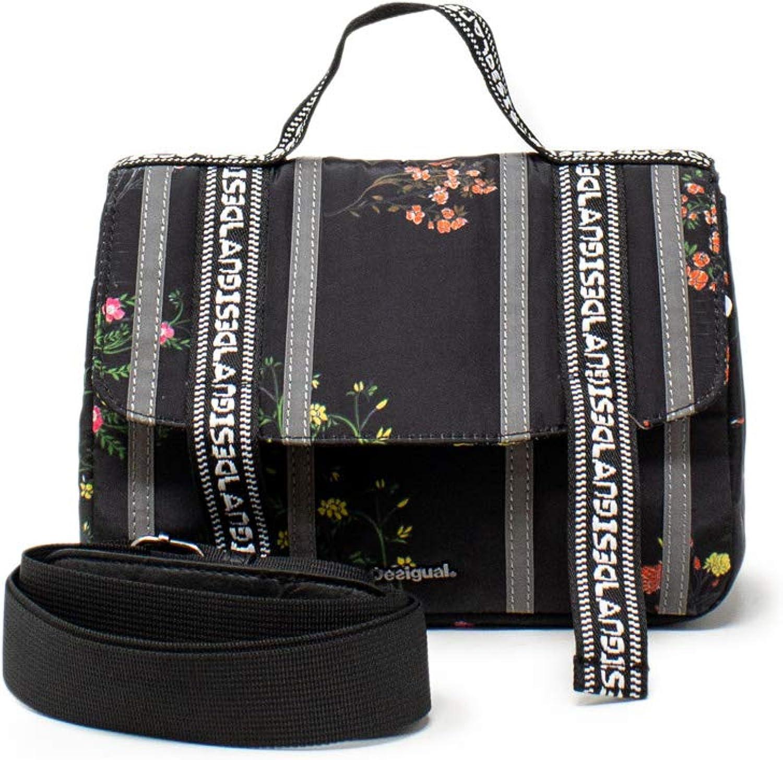 6,5 x 12 x 18,5 cm Desigual Bols/_Waterfall Zurich Mini sac /à bandouli/ère pour femme Noir n/égro