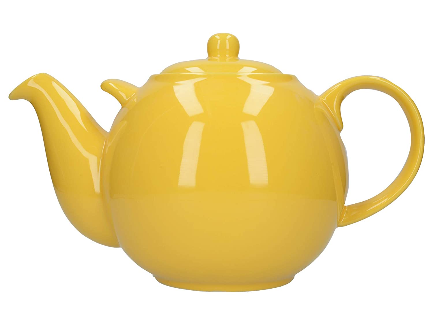 Yellow Ceramic 3 Litre London Pottery Globe Extra Large Teapot with Strainer 10 Cup