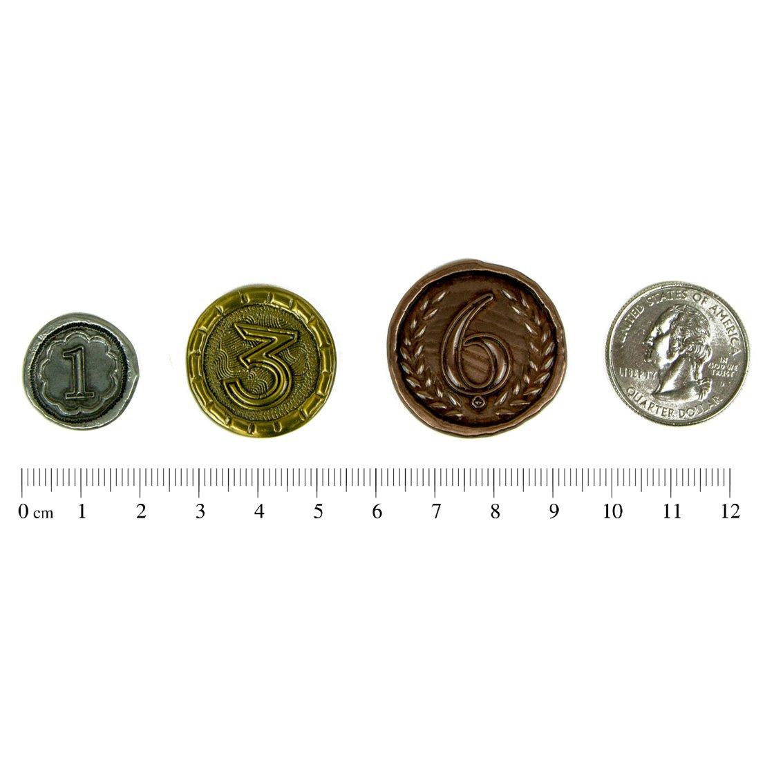 The Broken Token Wondrous Metal Coins for 7 Wonders (57) by The Broken Token