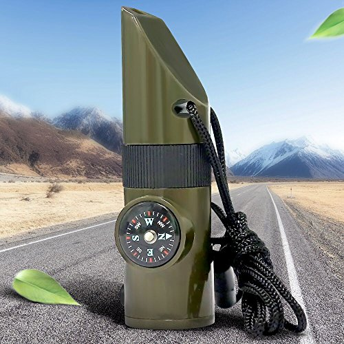 7 In 1 Survival Whistle With Led Light in US - 2