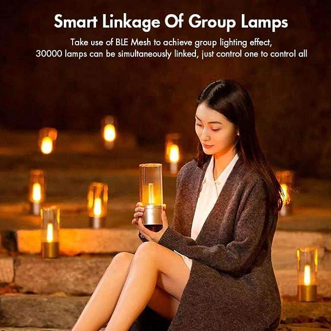 Candle Light BLE Mesh Lampada da Tavolo YEELIGHT Candela datmosfera Versione EU 6.5 W Gold