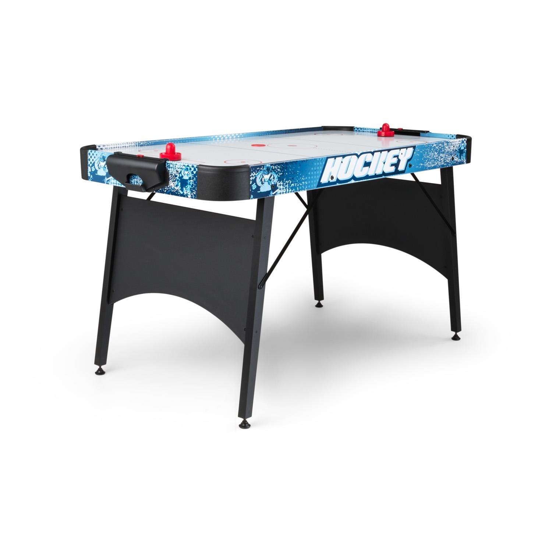 OneConcept Polar • Airhockey-Tisch • Spieltisch • Lufthockey-Tisch • Laminatoberfläche • 150 x 75 cm Spielfläche • geräuscharmes Ventilationssystem • 2 Pucks und 2 Spielgriffe • Silber oder schwarz
