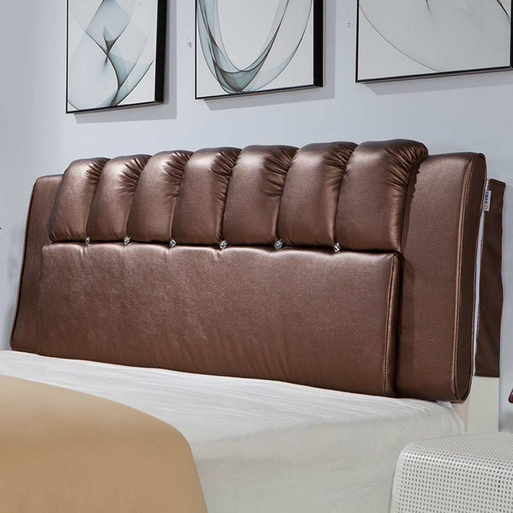 1  No headboard-200cm WENZHE Upholstered Fabric Headboard Bedside Cushion Pads Cover Bed Wedges Backrest Waist Pad Double Bed Soft Case Pillow Large Back Home Bedroom Sofa Multifunction Easy To Clean, There Is Headboard   No Headboard, Thickness 8cm, 6 Co