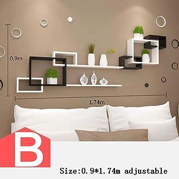 Amazon.de: HYW Dekoration-Wand Regal Wohnzimmer TV Wanddekoration ...
