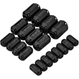 eBoot 20 Pieces Clip-on Ferrite Ring Core RFI EMI Noise Suppressor Cable Clip for 3mm/ 5mm/ 7mm/ 9mm/ 13mm Diameter Cable, Black