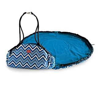 2 Red Hens Nanny and Play Mat, Blue Chevron