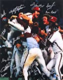 1980 PHILLIES TEAM SIGNED 16x20 PHOTO (18 SIGNATURES) - Green, Boone, Maddox, - Autographed MLB Photos