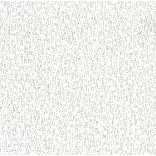 York Wallcoverings Walt Disney Signature II Cascade Wallpaper Color: Oyster Pearl/Silver Glitter/Bright White