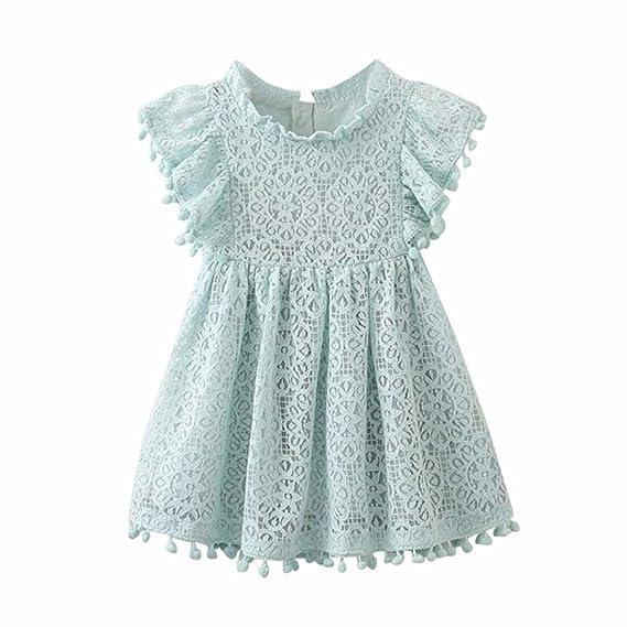 Elegante Bordado Ropa Bebe Niña Princesa Vestido De Encaje Estampado Floral Hueca Vestidos De Fiesta Bautizo